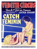 Vedette Circus Womens Wrestling Giclee Print