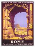 French Railway Travel, Rome Express Reproduction proc&#233;d&#233; gicl&#233;e