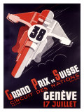 Grand Prix National Motorcycle Wydruk giclee