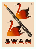 Swan Screw Cap Fountain Pen Giclee Print