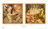 Cappuccino and Cafe Poster by Teddy Edinjiklian