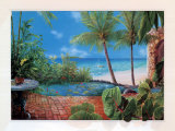 Tropical Terrace Prints by Lynn Fecteau