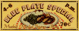 Blue Plate Special Poster by Catherine Jones
