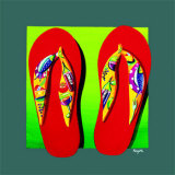 Napa Thongs Print by Mary Naylor