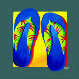 Bahama Thongs Prints by Mary Naylor