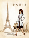 Paris Poster by Andrea Laliberte