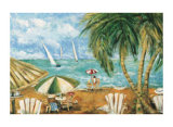 Day at the Beach Prints by Viola Lee