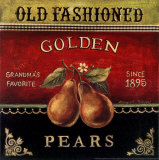 Goldene Birnen Kunstdrucke von Kimberly Poloson