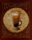 Italian Coffee Poster af Gregory Gorham
