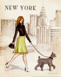 New York Poster by Andrea Laliberte
