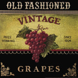 Vintage Grapes Art by Kimberly Poloson