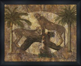 Jungle Cheetahs Print by Jonnie Chardonn
