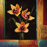 Yellow Orchids Prints by Jill Deveraux