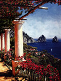 Pergola in Capri Prints by Elizabeth Wright