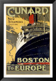 Cunard / Boston To Europe Print