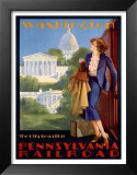 Pennsylvania Railroad, Washington Posters by Edward M. Eggleston