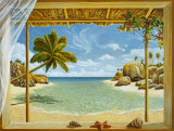 Seychelles View Poster by Andrea Del Missier