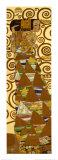 Gustav Klimt - Očekávání, vlys z paláce Stoclet, c.1909 (detail) Plakát