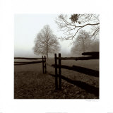 Fence in the Mist Posters by Harold Silverman