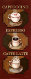 Coffee Triptych Print by Debra Lake