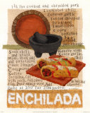 Enchilada Recipe, Art Print