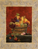 Traditional Fruit Basket I Poster by Charlene Winter Olson