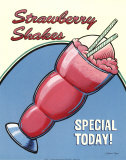 Strawberry Shakes Prints by Louise Max