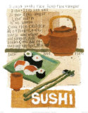 Sushi Prints by Nancy Overton
