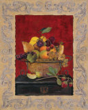 Traditional Fruit Basket II Print by Charlene Winter Olson
