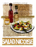 Salade ni&#231;oise Poster par Nancy Overton