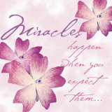 Miracles Poster by Paula Scaletta