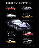 Corvette (Evolution) Art Poster Print Photo