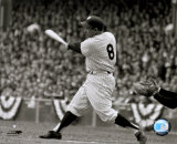 Yogi Berra - batting action/sepia Photo