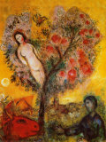 La Branche Posters af Marc Chagall