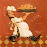 Pasta Chef Prints by Stephanie Marrott