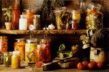 Kleurrijke groenten in wekpotten Poster