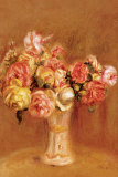 Roses in Sevres Vase Poster by Pierre-Auguste Renoir