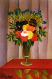 Flowers Lavender Prints by Henri Rousseau