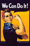 Rosie the Riveter (1944) Poster by J. Howard Miller