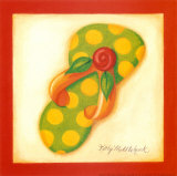 Red Flip Flop III Posters by Kathy Middlebrook