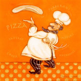 Pizza Chef Prints by Stephanie Marrott