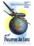 Philippine World Air Lines DC6 Giclee Print