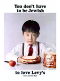 You Don't Have to Be Jewish to Love Levy's Real Jewish Rye Giclée-tryk af P. Bonnet
