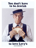 Buster Keaton Eats Levy Jewish Rye Giclee Print