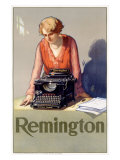 Remington Typewriter Giclee Print by Reinhard Hoffmuller