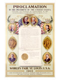 Presidents Proclamation at 1903 World's Fair Giclee Print by Reinhard Hoffmuller