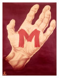 Red M Hand Giclee Print by Frank Mason
