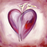 Shades of Love: Lavender Poster by Alfred Gockel