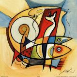 Sun Fish II Posters av Gockel, Alfred