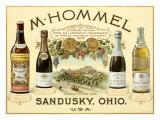 Hommel Champagne Vineyard Giclee Print by Jules Chéret